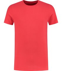 shirtsofcotton heren t-shirt rood basic round