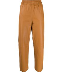 pinko cropped baggy trousers - brown