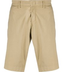 fay relaxed fit chino shorts - neutrals