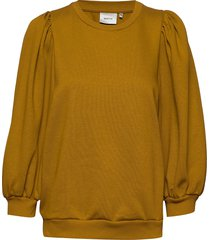 nankitagz sweatshirt sweat-shirt trui geel gestuz