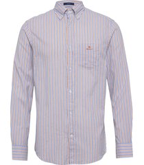 d1. wb oxford stripe reg bd overhemd business paars gant