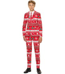 boy's opposuits winter wonderland two-piece suit with tie