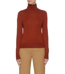 contrast stitch turtleneck top