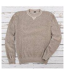 men's cotton pullover sweater, 'sporting elegance' (guatemala)