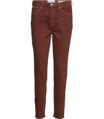 hepburn hw mom coffee brown jeans mom jeans brun tomorrow