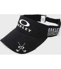 gorra negro-blanco oakley visera de golf