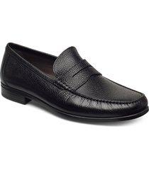 dress moc loafers låga skor svart ecco