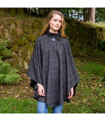 hourihan 100% pure new wool donegal tweed cape