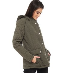 parka larga tommy hilfiger verde - calce regular