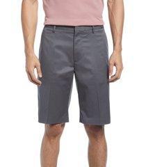 men's nordstrom non-iron stretch cotton shorts, size 40 - grey