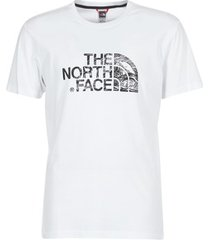 t-shirt korte mouw the north face woodcut dome tee