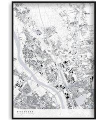 białołęka - mapa dzielnicy, plakat