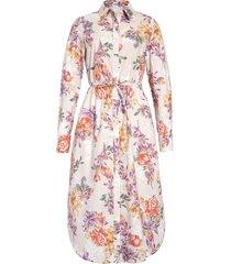 women's 1901 floral print long sleeve midi shirtdress