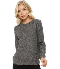 sweater tentation cierres gris - calce regular