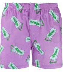 jacquemus pistach' print shorts - purple