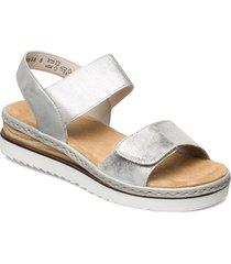 67990-90 shoes summer shoes flat sandals silver rieker