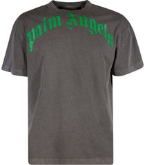 palm angels vintage wash curved logo t-shirt