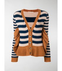 marco de vincenzo striped cardigan
