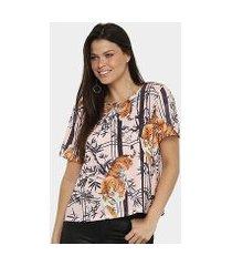 camiseta lança perfume onça descolada feminina