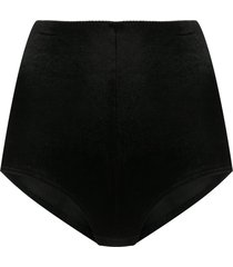 alchemy high-waisted textured shorts - black