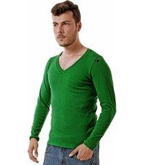 camiseta oitavo ato decote v manga longa masculina