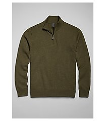 traveler collection mock neck cotton quarter-zip men's sweater