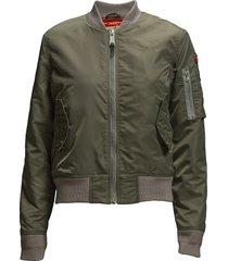 ac bomber jacket woman bomberjacka grön schott