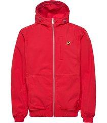 softshell jacket tunn jacka röd lyle & scott