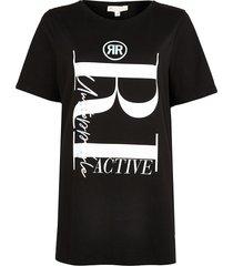 river island womens black ri active maternity t-shirt