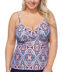 raisins curve trendy plus size aquarius rising aries underwire tankini top women's swimsuit
