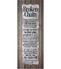 """dexsa broken chain new horizons wood plaque, 6"""" x 15.75"""""""