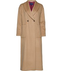 d1. full length coat wollen jas lange jas beige gant