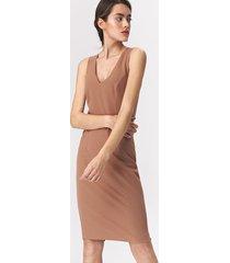 karmelowa sukienka mini
