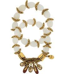 camila klein mother of pearl bracelets set - gold