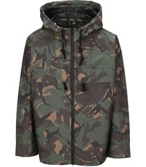 a.p.c. hooded camouflage-print jacket