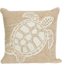 "liora manne frontporch turtle indoor, outdoor pillow - 18"" square"
