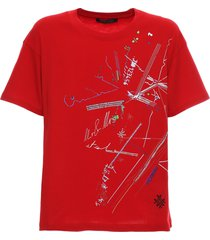 chinese new year 2020 red t-shirt with prints