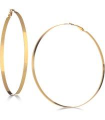 """guess 3-3/4"""" flat-edge hoop earrings"""
