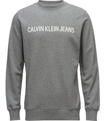 core institutional l sweat-shirt trui grijs calvin klein jeans