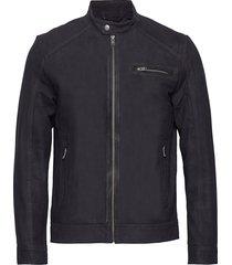 slh c-01 classic suede jacket w läderjacka skinnjacka svart selected homme