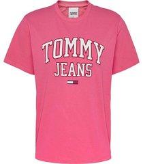 polera boyfriend algodón orgánico rosado tommy jeans