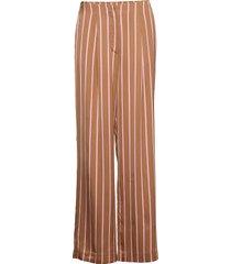 2nd bradley stripe vida byxor brun 2ndday