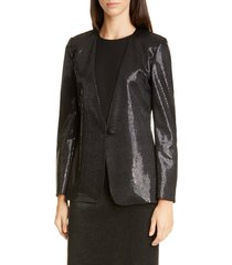 women's st. john evening paillette shimmer knit jacket