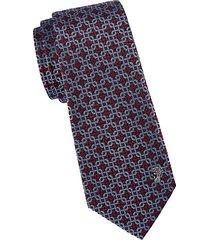 chain-link woven silk tie