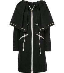 calvin klein 205w39nyc drawstring cape coat - black