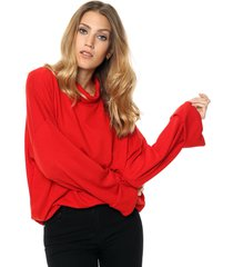 sweater rojo destino collection lanilla