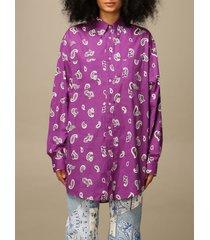 etro shirt etro oversized shirt in patterned cotton