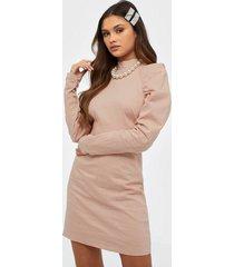 glamorous long sleeve linen dress fodralklänningar