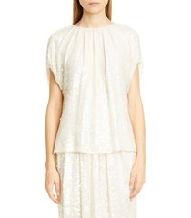 women's adam lippes sequin embroidered top
