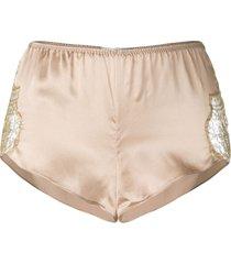 gilda & pearl gina silk shorts - neutrals
